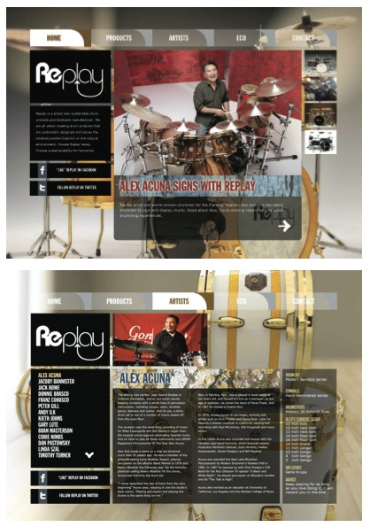 Replay Drums Website