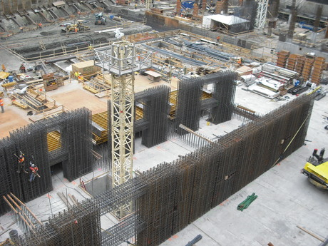 3/21/14 We are going vertical! Wilshire Grand: steel at tower core.