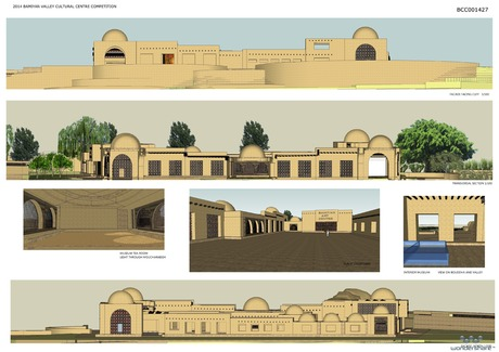 BAMIYAN CULTURAL CENTRE FACADES AND SECTIONS