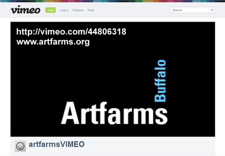 ARTFARMS Buffalo project video http://vimeo.com/44806318