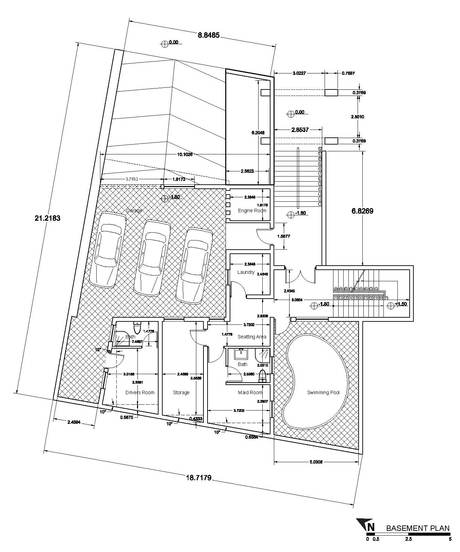 House in Erbil, Iraq | Basement PLan