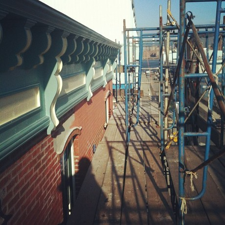 In Construction: Exterior Painting and Color Consultation for 51 Kent Cafe.