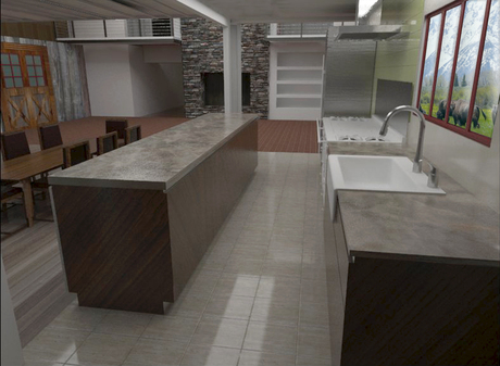 Rancho kitchen render