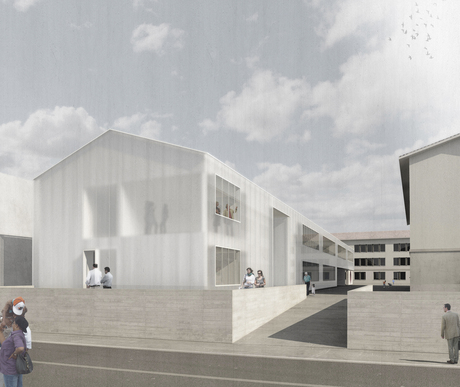 VILLE DE FRIBOURG | competition of a primary school in Fribourg, Switzerland.