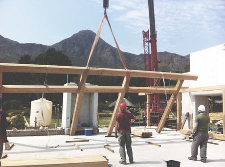 Hoisting beams!