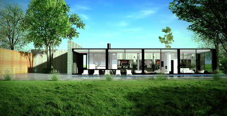 Modern residential home Rendering