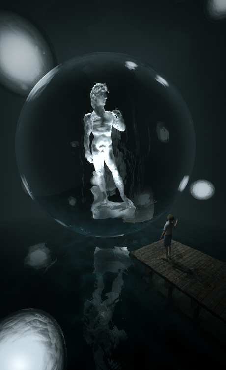 3D Visualization competition entry! Display the famous David in any way you want in a 12m*12m*12m gallery