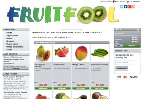 FruitFool logo & marketing materials