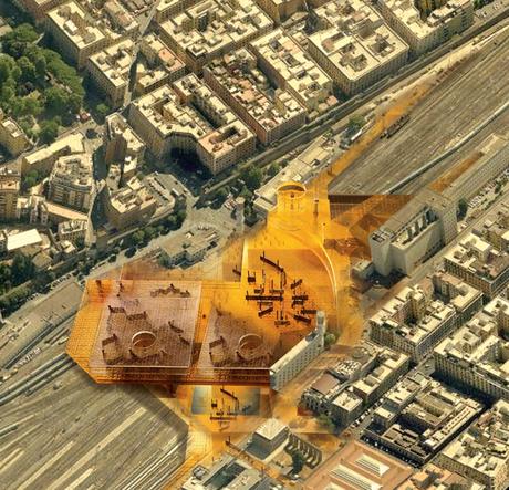 ESQUILINO | a urban design project for the Architecture prize 'PREMIO DI ARCHITETTURA Fondazione F. L. Catel 2011 Rione Esquilino - I Municipio – Rome, Italy; 2nd Place.