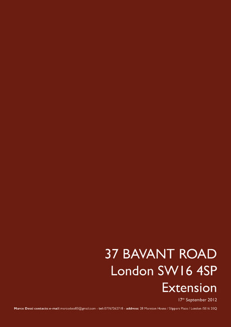 Bavant Road refurbishment and expansion