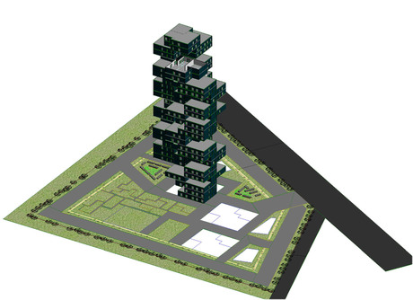 Making senior's appartment model in Revit 2014.