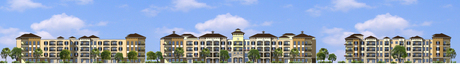 Elevations for an apartment complex in Tampa