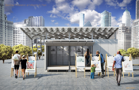Entry into the Chicago Architecture Biennial Lakefront Kiosk Competition