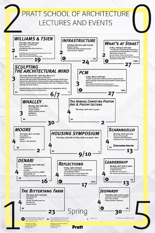 Poster courtesy of Pratt Institute.