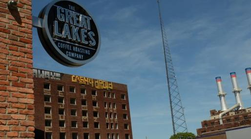 The Great Lakes Roasting company is known as a hang out for young people in Midtown. (John Ketchum/Marketplace)