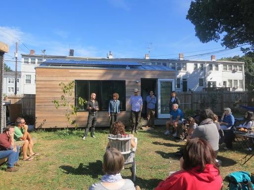 Participants at a Tiny House Design workshop. Image courtesy Boneyard Studios.