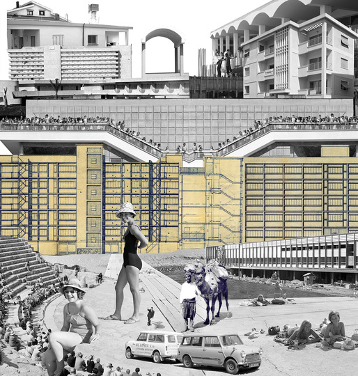 """""""Anatomy of the Wallpaper"""" collage for the Cyprus 2014 Venice Biennale pavilion. Image courtesy of the Cyprus pavilion project team."""