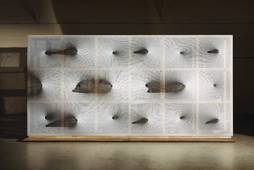 "Frontview of ""Kinetic Wall"" by Barkow Leibinger at the Venice Biennale 2014. Photo © Johannes Foerster"