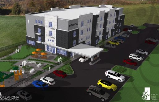 Rendering of the Intrada at Tulsa at its former south Tulsa site (Credit: Vecino Group of Springfield)