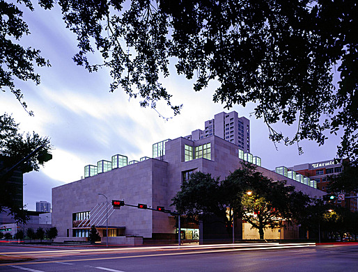The property for the expanded MFAH is vis-à-vis the Audrey Jones Beck Building, designed by Rafael Moneo © MFAH