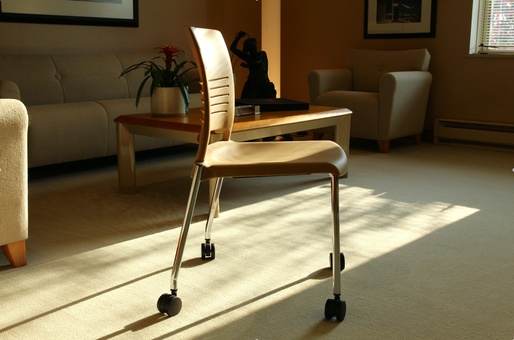 A chair made from AirCarbon. Credit: Newlight Technologies via Smithsonian Mag