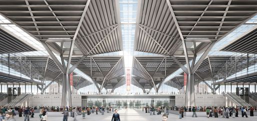 Entrance hall with view on the main central thoroughfare (Image: gmp  von Gerkan, Marg and Partners  Architects)
