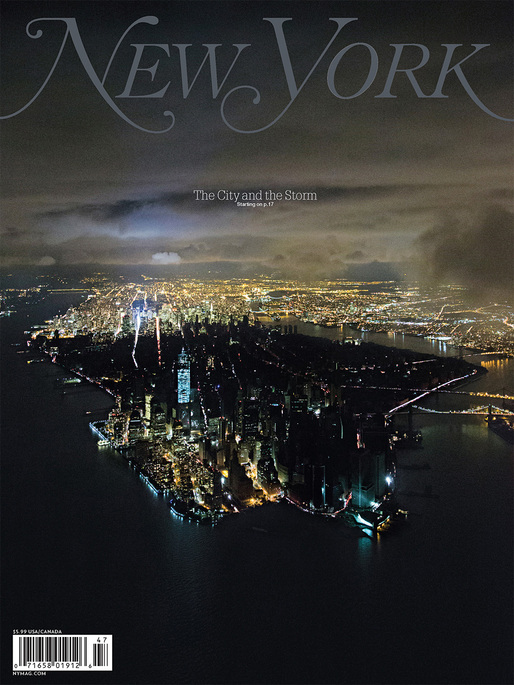 ASME Cover of the Year: The City and the Storm November 12, 2012, issue of New York Magazine, photographed by Iwan Baan
