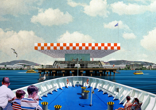 "Point Supreme (Konstantinos Pantazis & Marianna Rentzou), ""Faliro Pier,"" 2012. Archival inkjet print. 23 1/2 x 33 inches. Courtesy of the artists."