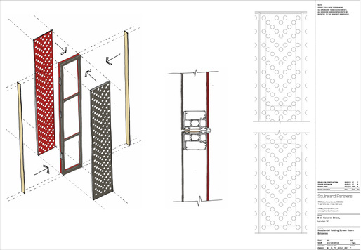 Folding Screen Component Details. Image courtesy of Squire and Partners.