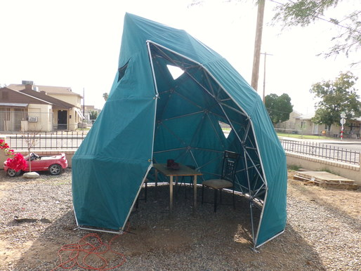 Arcology Now's tear-shaped structure, image via Gigaom.