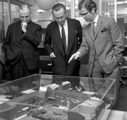 Town planning was a policy priority in earlier decades. Here, housing minister Julian Amery views residential plans for south London in 1971. (theguardian.com; Photograph: PA)