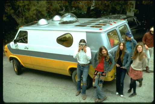 Ant Farm's Media Van. Image via mLAB at California College of the Arts.