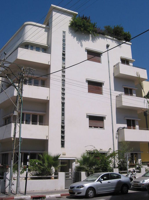 "A Bauhaus building in Tel Aviv's historic ""White City."" Credit: Wikipedia"