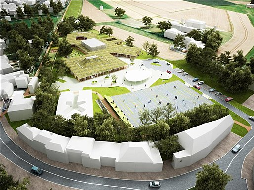 Competition-winning design for the new Knokke-Heist school building by NL Architects