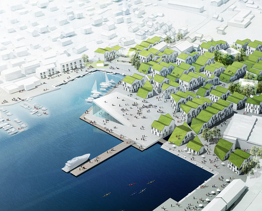 2nd Prize in the Klaksvk City Center competition by Group8 (Image: Group8)