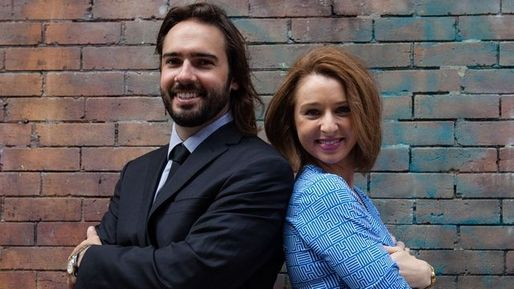 SketchFactor co-founders Allison McGuire and Daniel Herrington. Photo via crainsnewyork.com.