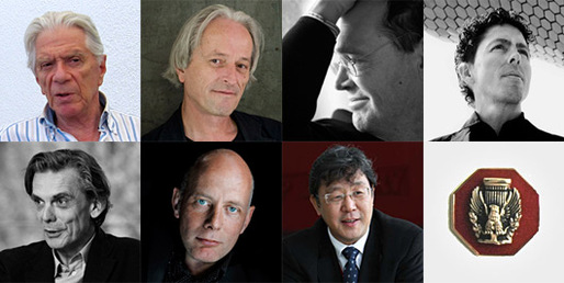 The AIA's 2013 Honorable Fellows (from top left): Zvi Hecker, Ladislav Lbus, Francisco Jose Mangado, Fernando Romero, Matthias Sauerbruch, Ben van Berkel, Siegfried Zhiqiang Wu (Images courtesy of AIA)