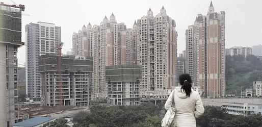 View of building construction sites, Chongqing, May 27, 2010. Markel Redondo/Panos