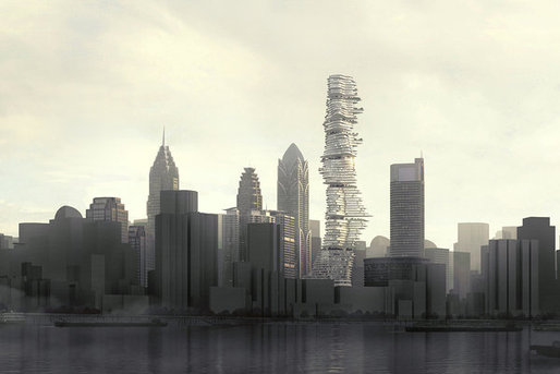 A rendering of MAD Architects' proposed project in Chongqing
