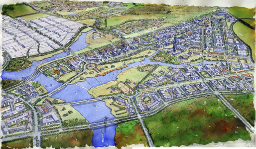 Artist impression of the new Federal District, designed by Capital Cities Planning Group (Image: CCPG)