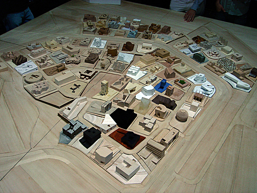 Physical model of the Ordos project. Photo:  Fred Scharmen