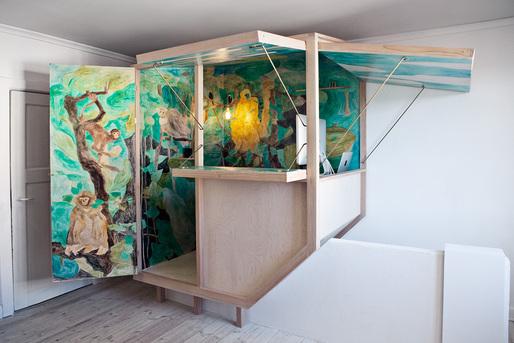 """La Cabane"" designed by Julien Franc Wahlgreen. Construction: Gustav Sandegård.Photo: Anders Find. Photo editing by Valérie Collart."