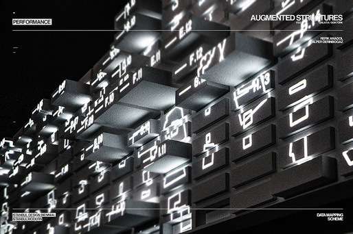 Augmented Structures v2.0 by Refik Anadol and Alper Derinbogaz at the Istanbul Design Biennial 2012