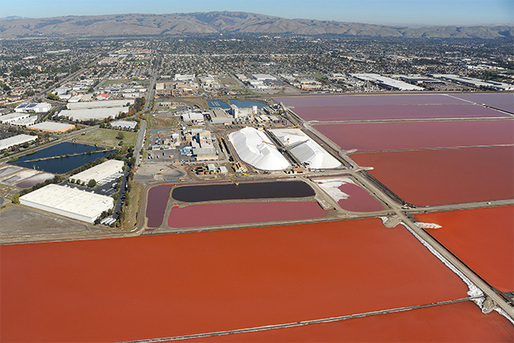 Cargill Salt, © Center for Land Use Interpretation from Around the Bay: Man-Made Sites of Interest in the San Francisco Bay Region (Blast Books).