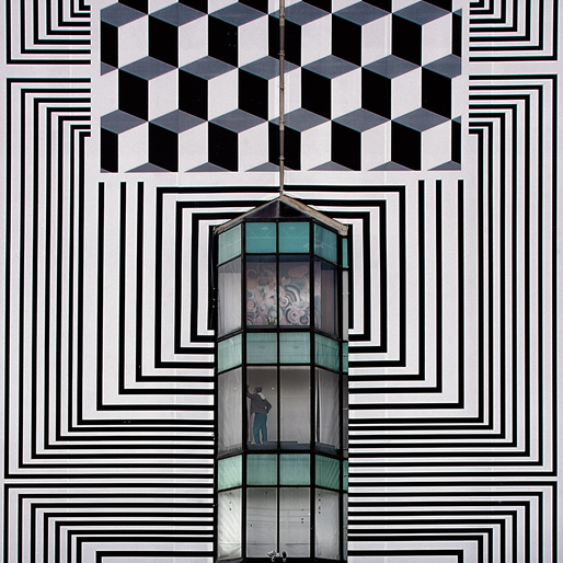 Serge Najjar: Diving into Escher. (Photo © Serge Najjar; Image via hyperallergic.com)