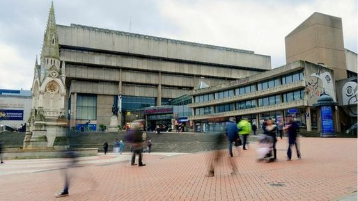 John Madin's 1974 library will be one of the casualties as Birmingham seeks to reinvent itself. Image via bbc.com