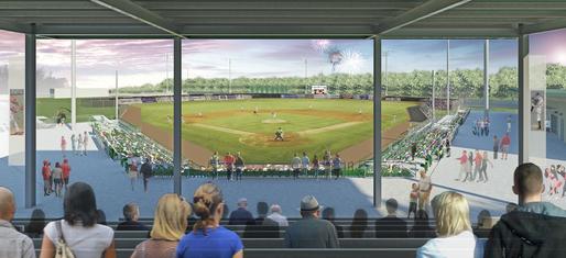 Lexington County Blowfish Stadium - View from the press box