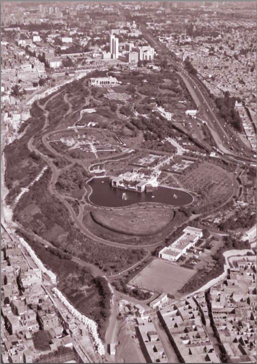 Aerial view of Al-Azhar Park, Cairo, Dec. 6, 2006. Gary Otte/Aga Khan Trust for Culture