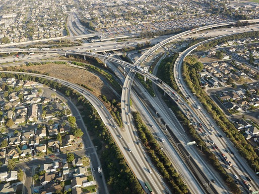 Los Angeles freeway interchange. Image via ehp.niehs.nih.gov.