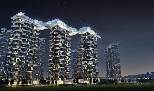 Hanhai Luxury Condominiums (unbuilt) by amphibianArc. Image © amphibianArc